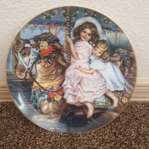 Sandra Kuck Girls Carousel Magic Collector Plate